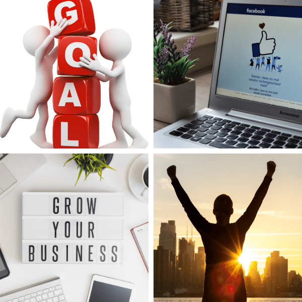 Customer goals, facebook ads, refine, scale, sell and succeed.