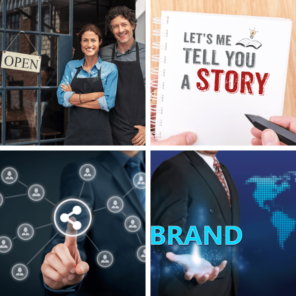 Small business using content creation and automatic distribution for branding campaigns. Free webinar training.